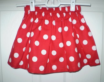 Red Polka Dot  Twirl Skirt