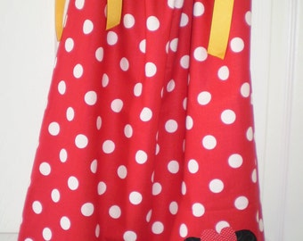 Girls Red Minnie Mouse  Pillowcase Dress