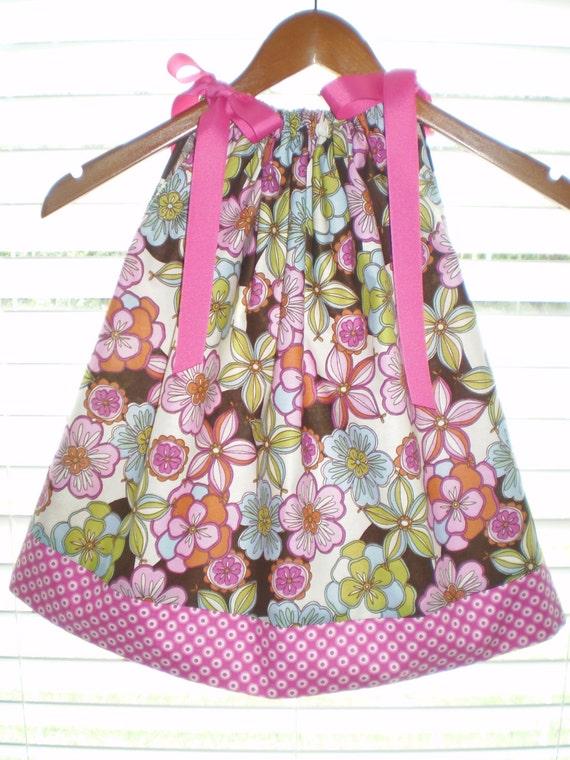 Girls Pillowcase Dress Summertime Floral