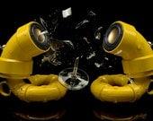 ikyaudio Yellow Sea Horses audio speakers - Design Copyright Pending