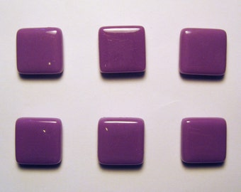 Purple Glass Magnet Set