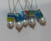 Snag Free Beaded Stitch Markers - Set of 5