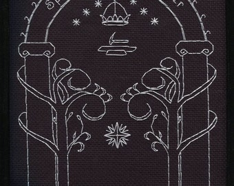Speak, Friend, and Enter, Mines of Moria cross stitch pattern