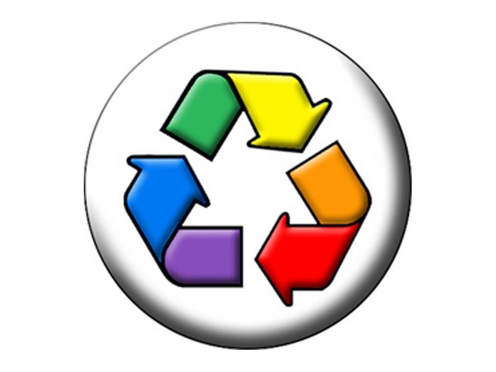 Cool Recycle Symbol Rainbow Recycle Symbol on
