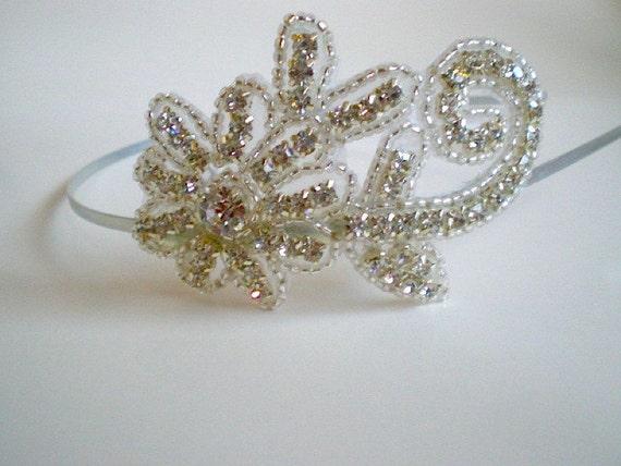 Rhinestone Headband, Sparkly Headband, Bridal Headpiece, Rhinestone Headpiece