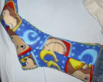 George the Monkey fleece socks