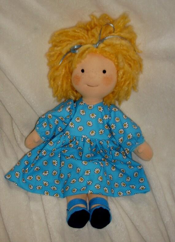 Daisy.  a 15 inch Waldorf inspired doll