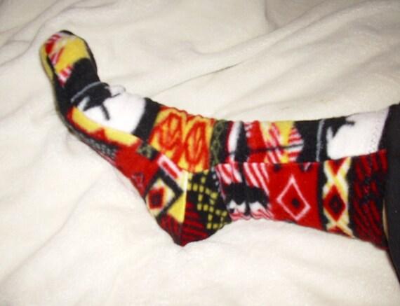 Colorful Wintertime fleece socks