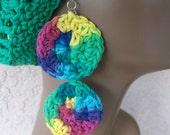 Two -Tier Spring Burst Crochet Earrings