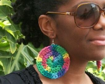 Spring Burst Crochet Earrings