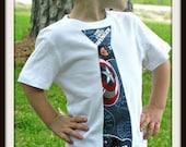 Captain America Tie Shirt--Boys