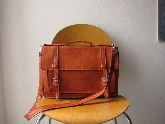 Large leather satchel (first model ready to ship)