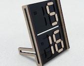 digits calendar - black acrylic & veneer MDF
