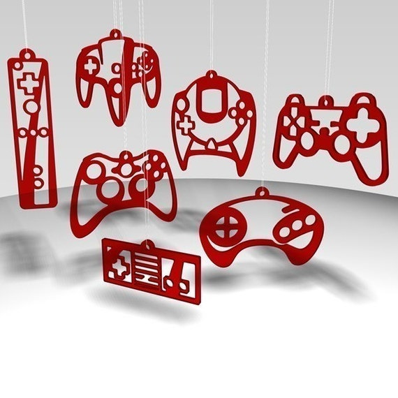 Controller ornaments - Red