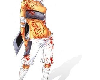 Bloody Mess 4x6 Print
