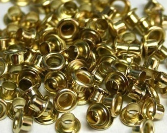 100 1/8 inch Gold Metal Eyelets