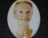Portrait on  4 1\/4  X 6 oval porcelain plaque.