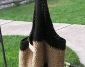 Handspun Crocheted Market Bag