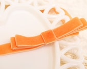 Tangerine Orange Stretch Bow Headband