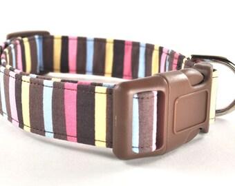 Striped Dog Collar - The Adalyn
