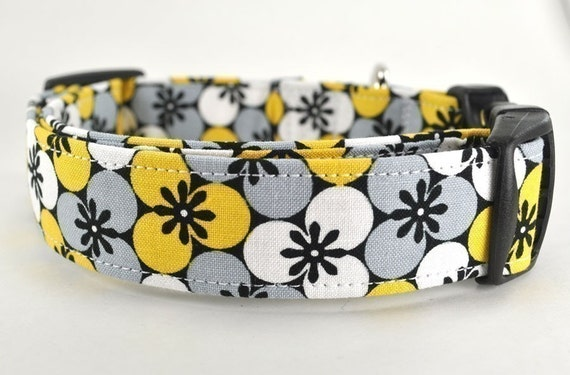 Yellow Floral Dog Collar - The Honey Bee