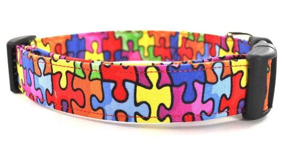 Puzzled - Autism Awareness Dog Collar