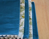 SALE Cloth Napkins - Set of 5 Vintage Blue