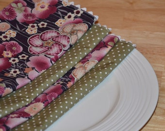 SALE Cloth Napkins - Set of 4 Punch of Purple SALE