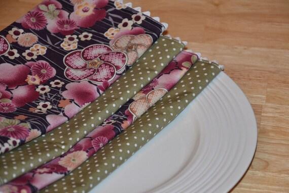 SALE Cloth Napkins - Set of 4 Punch of Purple SALE