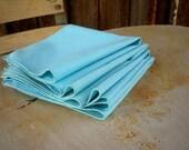 Country Blue Linen Napkins set of four