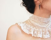 Marie Antoinette french lace collar OOAK