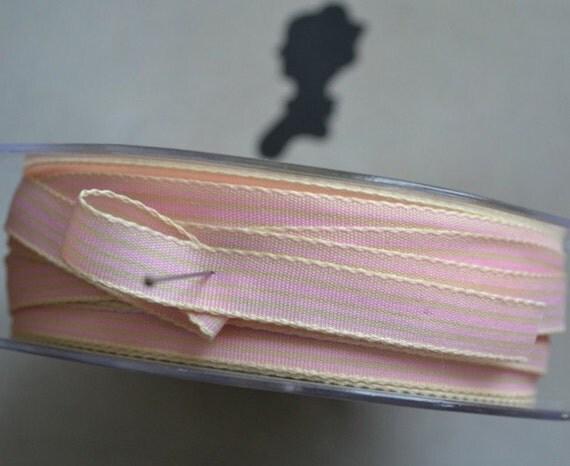 Carnival Pink & Cream Ribbon