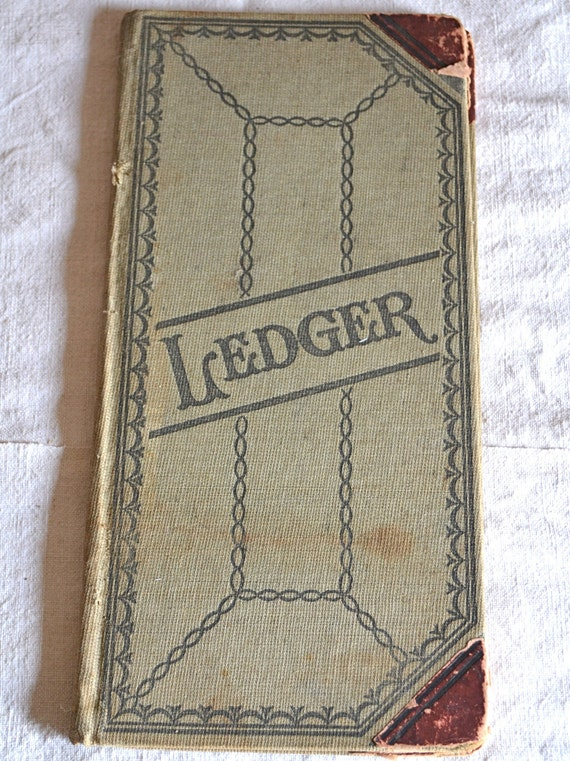 Vintage Ledger Book