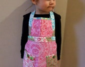 Small girl\/Toddler 'Sophia' apron with gathered detail