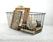 Vintage Extra Long Metal Locker Basket