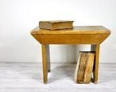 Vintage Wood Foot Stool or Bench