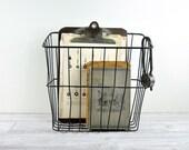 RESERVED - Vintage Metal Bike Basket / Wire Basket