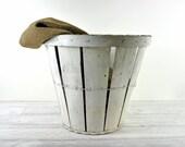 Vintage Rustic Bushel Basket / Industrial Storage