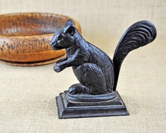 Vintage Cast Iron Squirrel Nutcracker By Havenvintage On Etsy