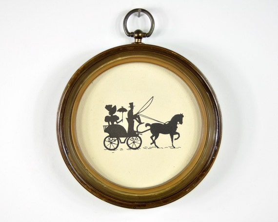 oval_insert_17 | Art, Silhouette art, Stencil art |Metal Horse And Buggy Silhouette