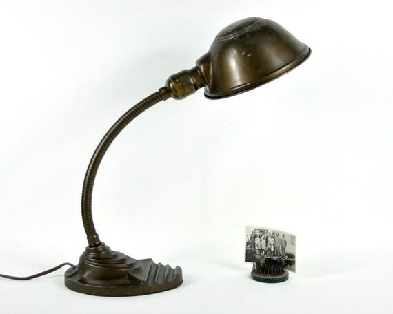 RESERVED - Vintage Industrial Gooseneck Desk Lamp
