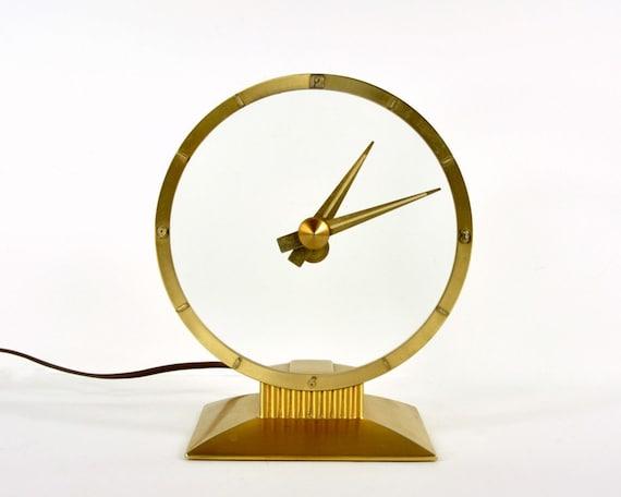 Vintage Jefferson Electric Golden Hour Clock By Havenvintage