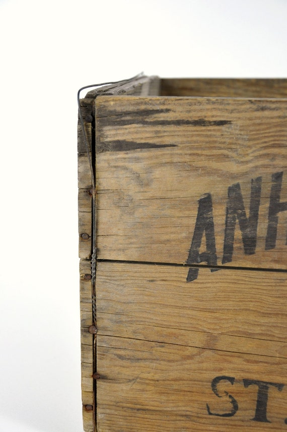 Vintage Anheuser Busch Co Wood Crate By Havenvintage On Etsy