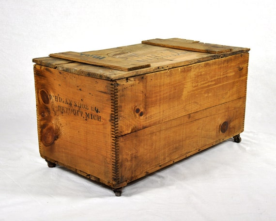 vintage wood extra large shipping crate