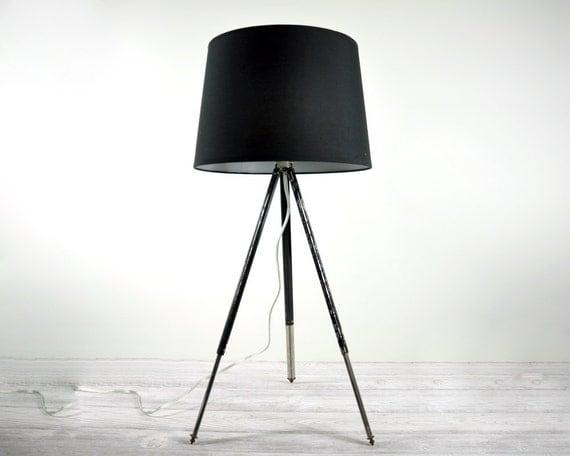 RESERVED - Vintage Industrial Metal Camera Tripod Lamp / Industrial Decor