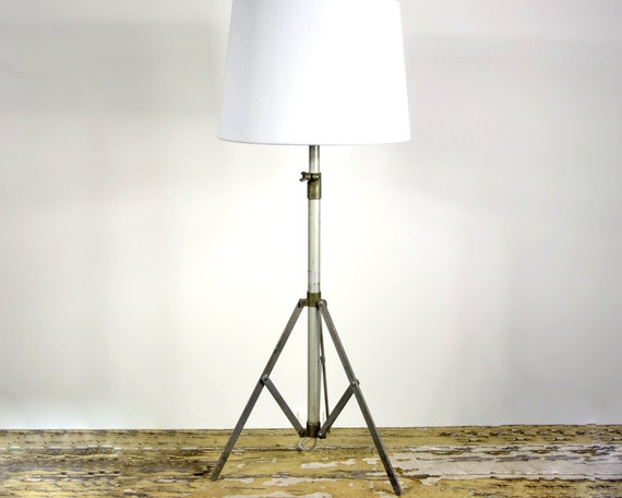 RESERVED - Vintage Table Lamp / Tripod Music Stand Lamp / Industrial Lighting
