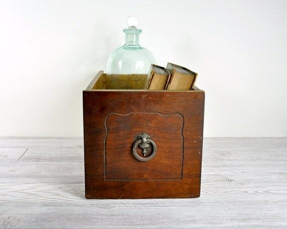 Vintage Wood Drawer / Industrial Storage