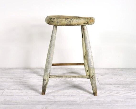 RESERVED - Vintage Rustic Wood Stool / Industrial Decor