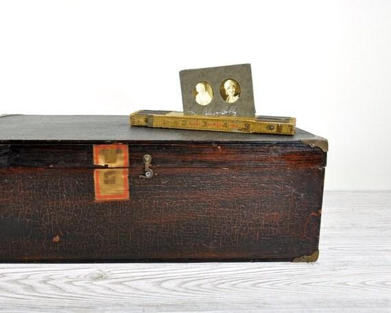 Vintage Wood Storage Box / Wooden Chest / Industrial Decor