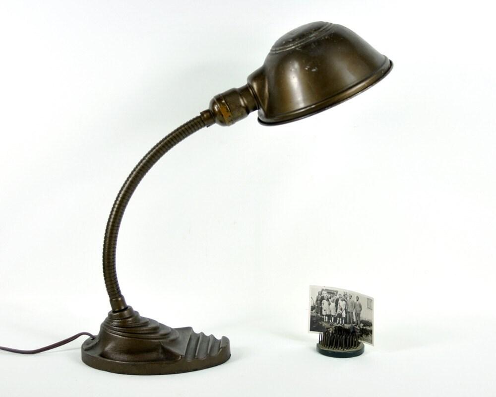 RESERVED Vintage Industrial Gooseneck Desk Lamp